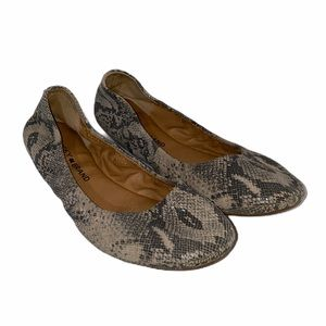 Lucky Brand Emmie Snake Flat 7.5 Ballet Gray